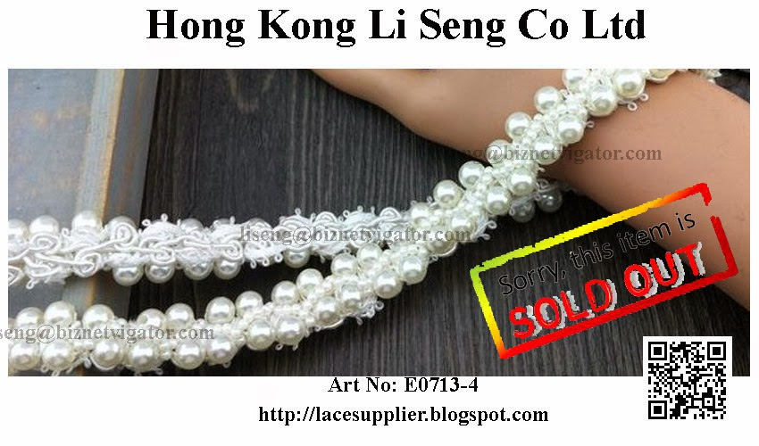"Braid with Beading Trims Manufacturer Wholesaler and Supplier -"" Hong Kong Li Seng Co Ltd """