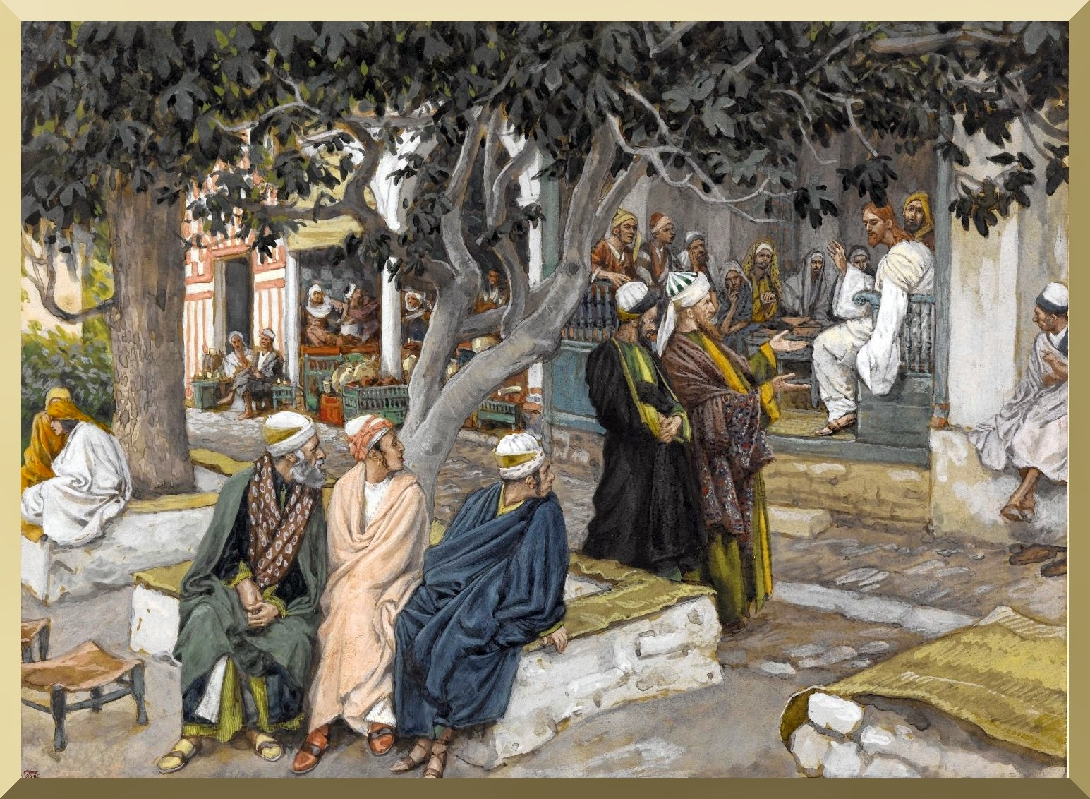 """The Meal in the House of Matthew"" -- by James Tissot"