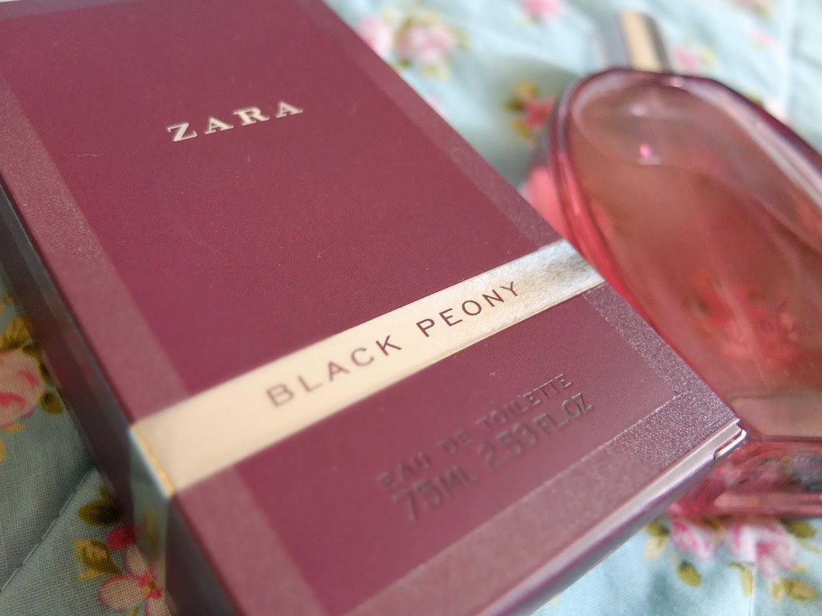 UK dupe of Viktor and Rolf Flowerbomb perfume - Black Peony from Zara on UK beauty blog.