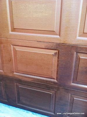 adding a bronze finish to metal garage door