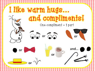 https://www.teacherspayteachers.com/Product/Snowman-Compliment-Sign-1950749
