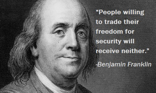 freedom or security Discuss whether you feel that freedom is more important than security and how that affects the united states.