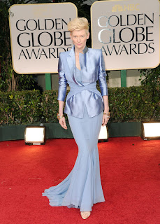 Tilda Swinton Golden Globes 2012 Haider Ackermann