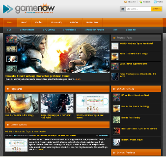 game now blog template blogger templates 2013