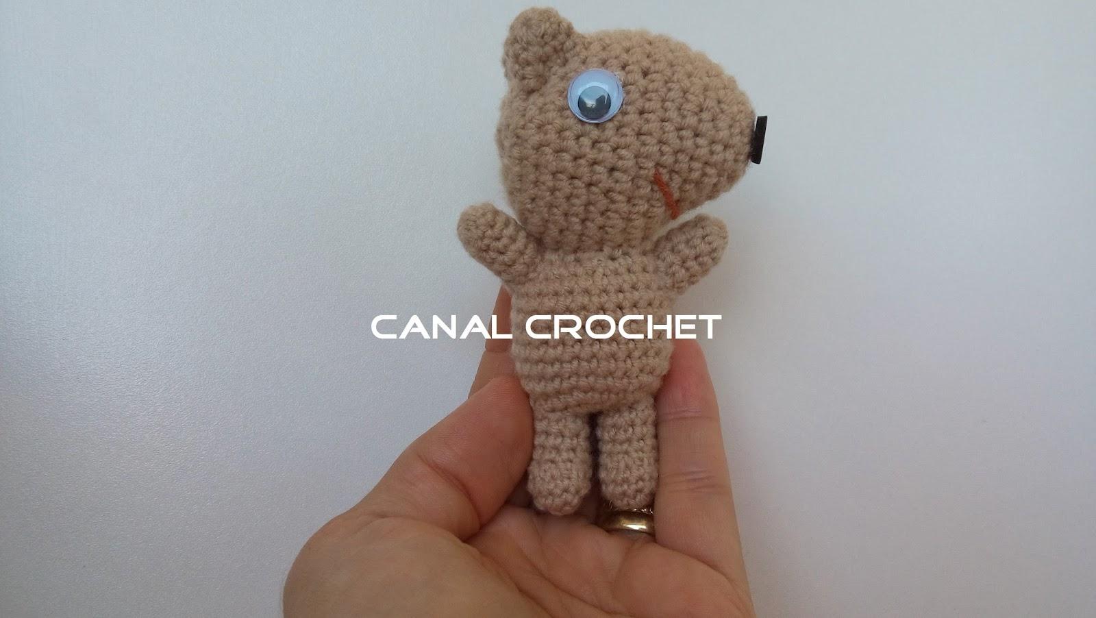 CANAL CROCHET: Peppa pig y su osito teddy amigurumi patron ...