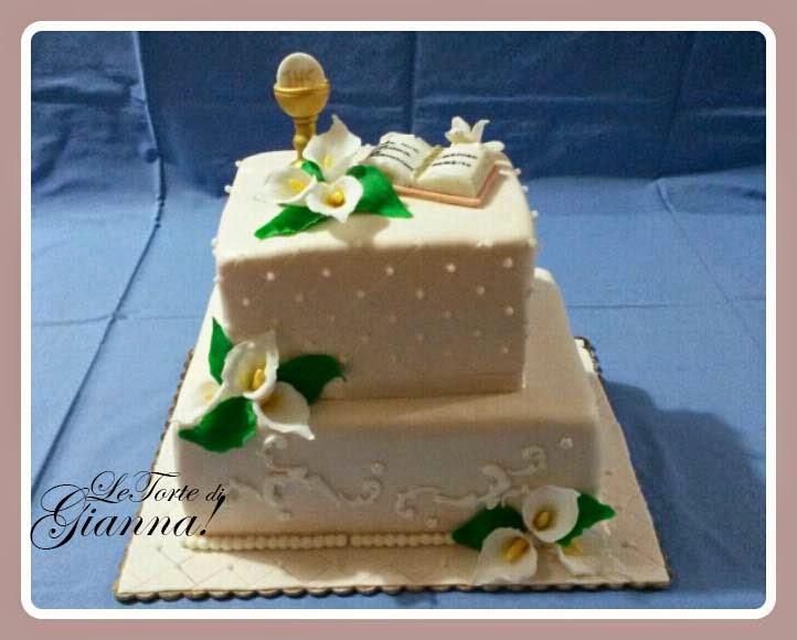 Dolce passione unire arte e gusto torta prima comunione for Decorazione torte prima comunione