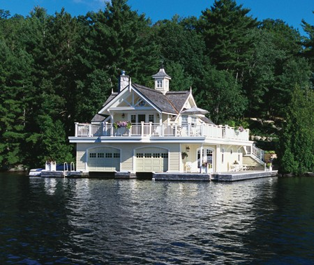 Amazing Boat House on luxury home plans canada