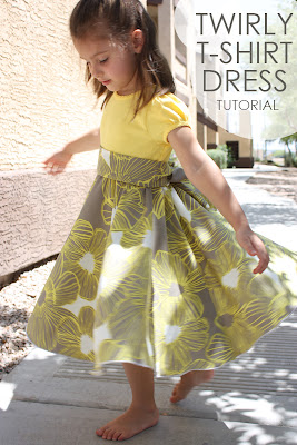 http://craftycupboard.net/2012/05/twirly-t-shirt-dress-tutorial/