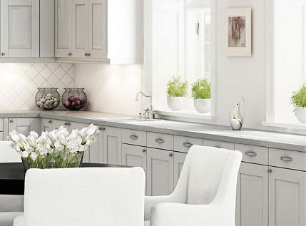 Hvitt eller grått kjøkken