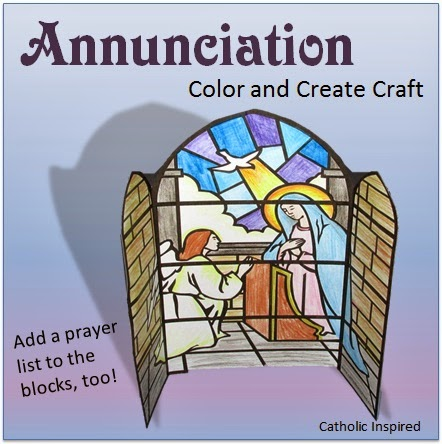Here Is A Simple Craft To Color And Create For The Solemnity Of Annunciation March 25