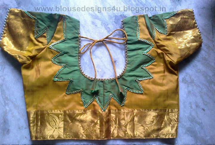 patch work blouse back neck designs 2015 blouse designs