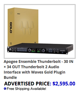 Apogee Enseble Thunderbolt and Waves Gold Bundle