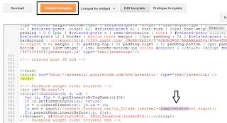 Pengaturan HTML di facebook