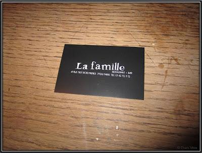 Adresse Bar resto La Famille Montmartre Paris 18