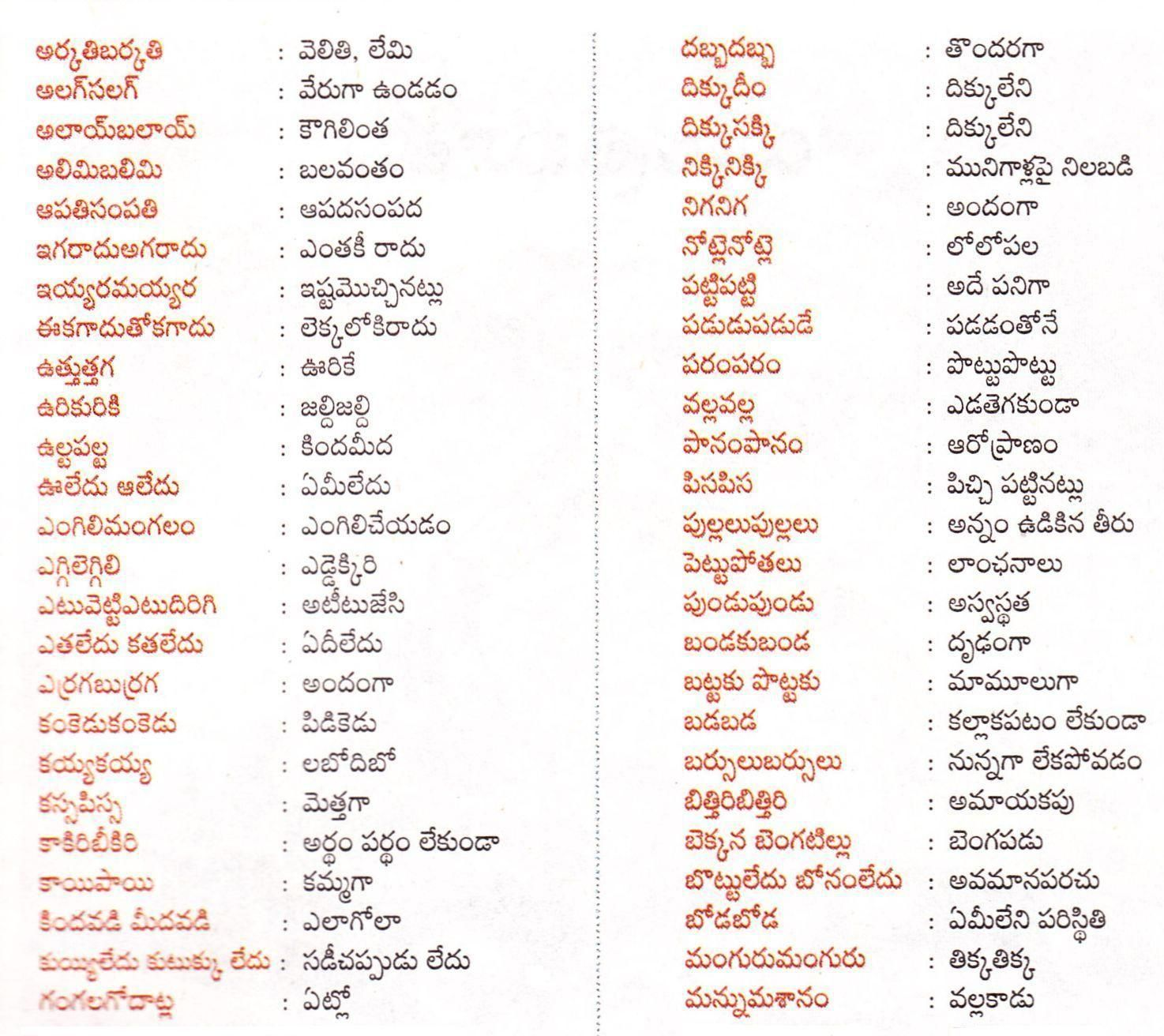 Worksheet Rhyming Words For See a collection of in telugu english you may see the four posters below to rememberunderstand and appreciate popular telangana phrases the