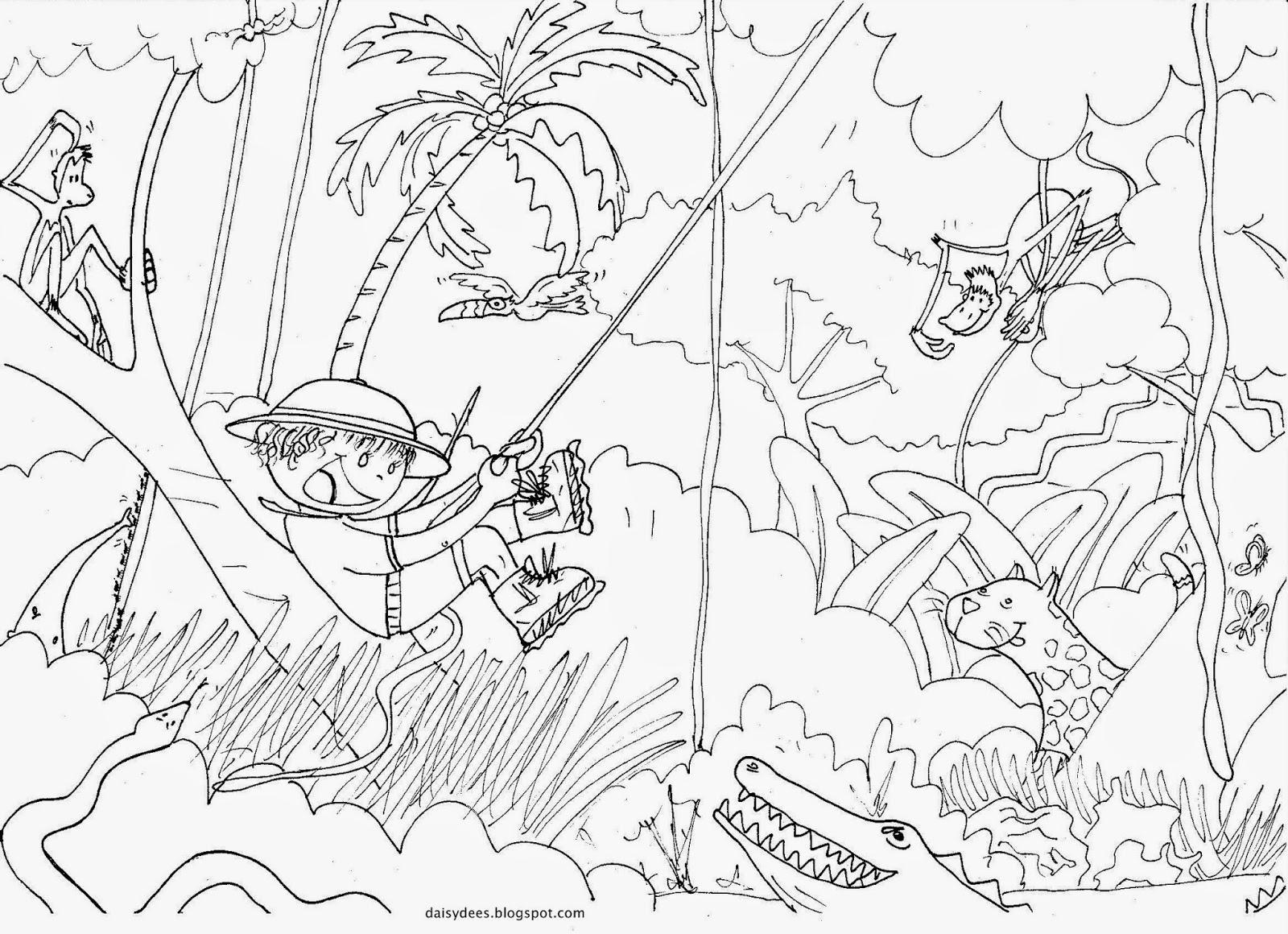 Assez Daisydées: Coloriages, dessins sur le thème de la jungle XZ33
