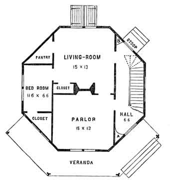 octagonal house plan