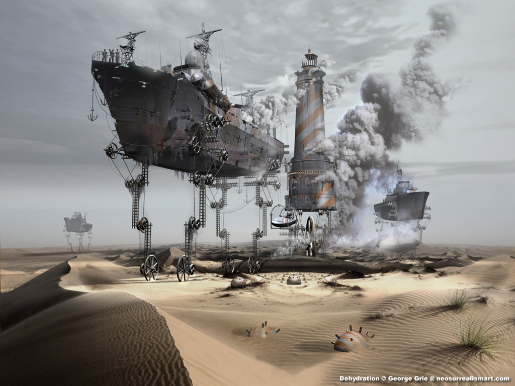 08-Dehydration-or-Global-Warming-Solution-George-Grie-Travels-Through-Neo-Surrealist-Art-Land-www-designstack-co