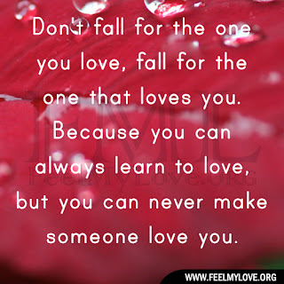 Don't fall for the one you love
