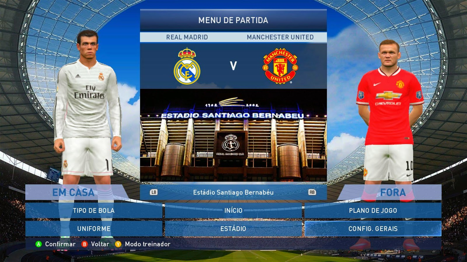 PES 2015: Estádio Santiago Bernabéu - Real Madrid HD 1980156_721144531303889_2775950516572636920_o