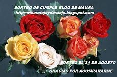 MAURA ESTA DE CUMPLE BLOG Y NOS INVITA  A SU SORTEO  VISITALA