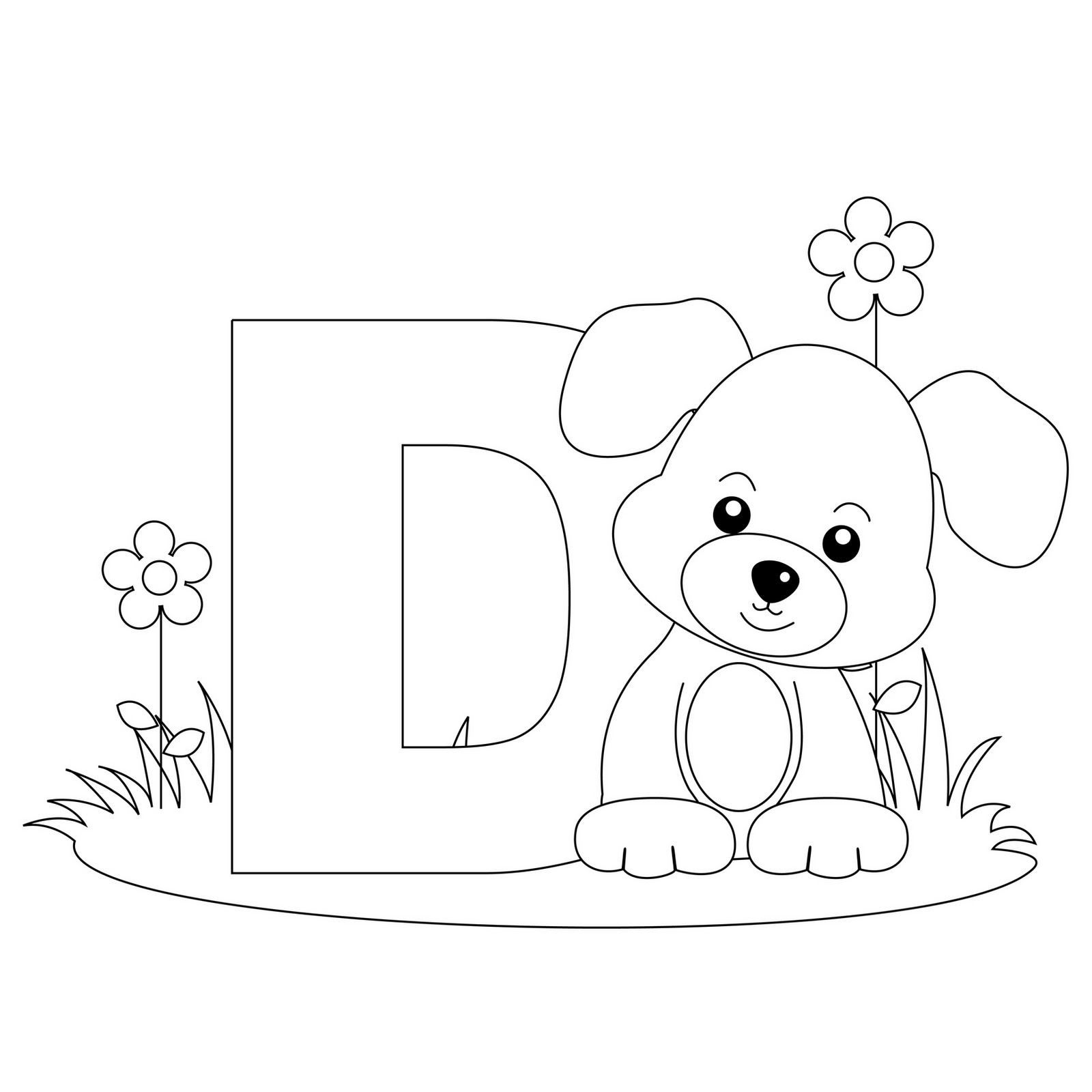 d letter coloring pages - photo #30