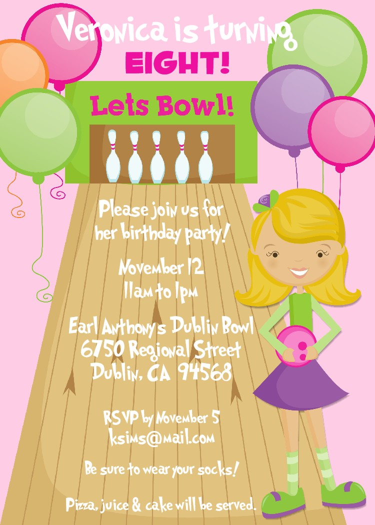Bear River Photo Greetings March 2011 – Free Bowling Birthday Party Invitations