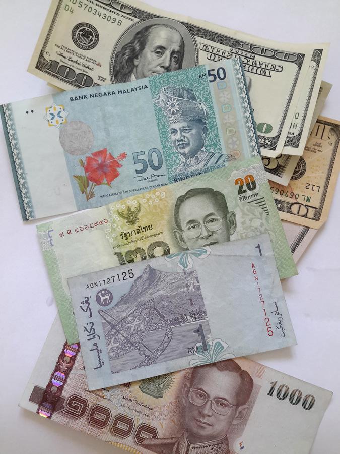 karty walutowe w Azji, gotówka w Azji