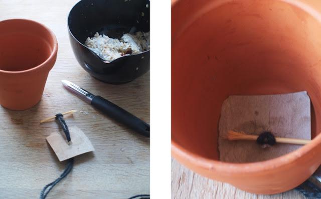 fuglemad i lerpotte uden at fedtet løber igennem