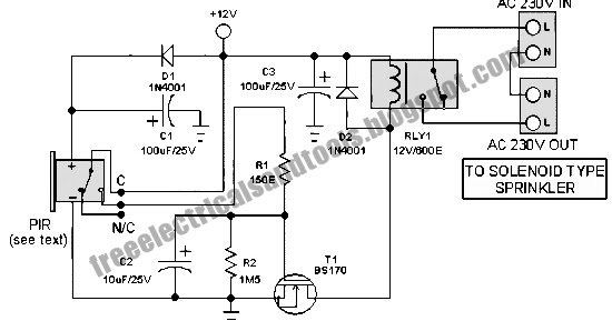 motion sensor switch circuit for alarm