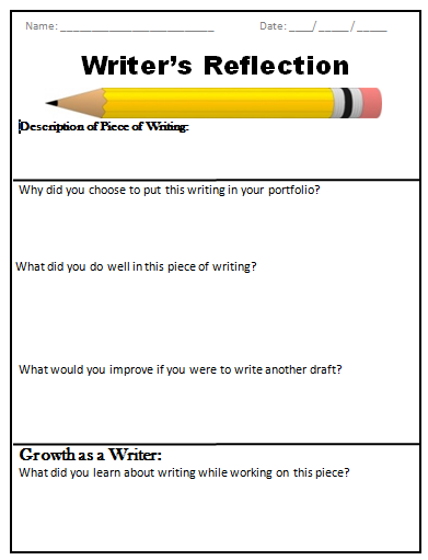 Writing a reflection?