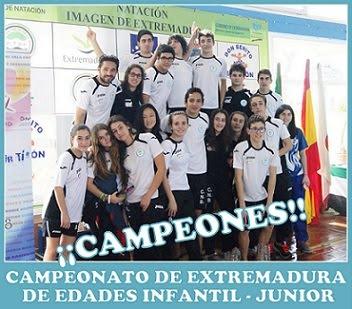Campeones de Extremadura de Edades 2014/2015