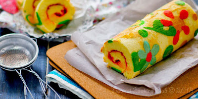 Roll Cake Warna-warni