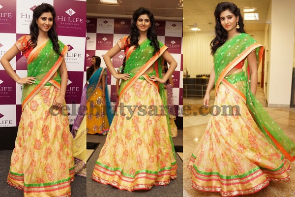 Shamili Mirror Work Half Saree