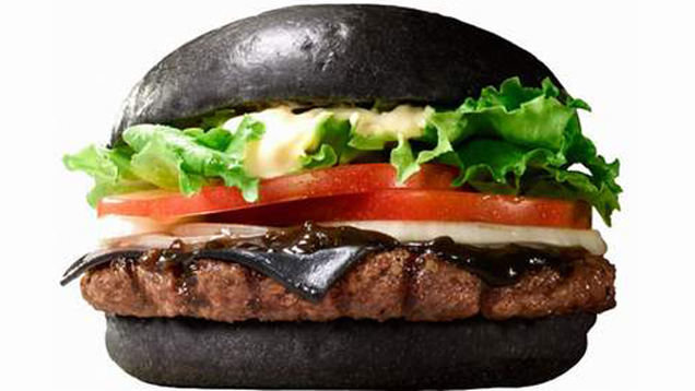 Burger King Black Cheese Burger In Japan