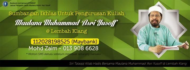 Perlukan sumbangan Utk Pengurusan Kuliah di lembah Klang