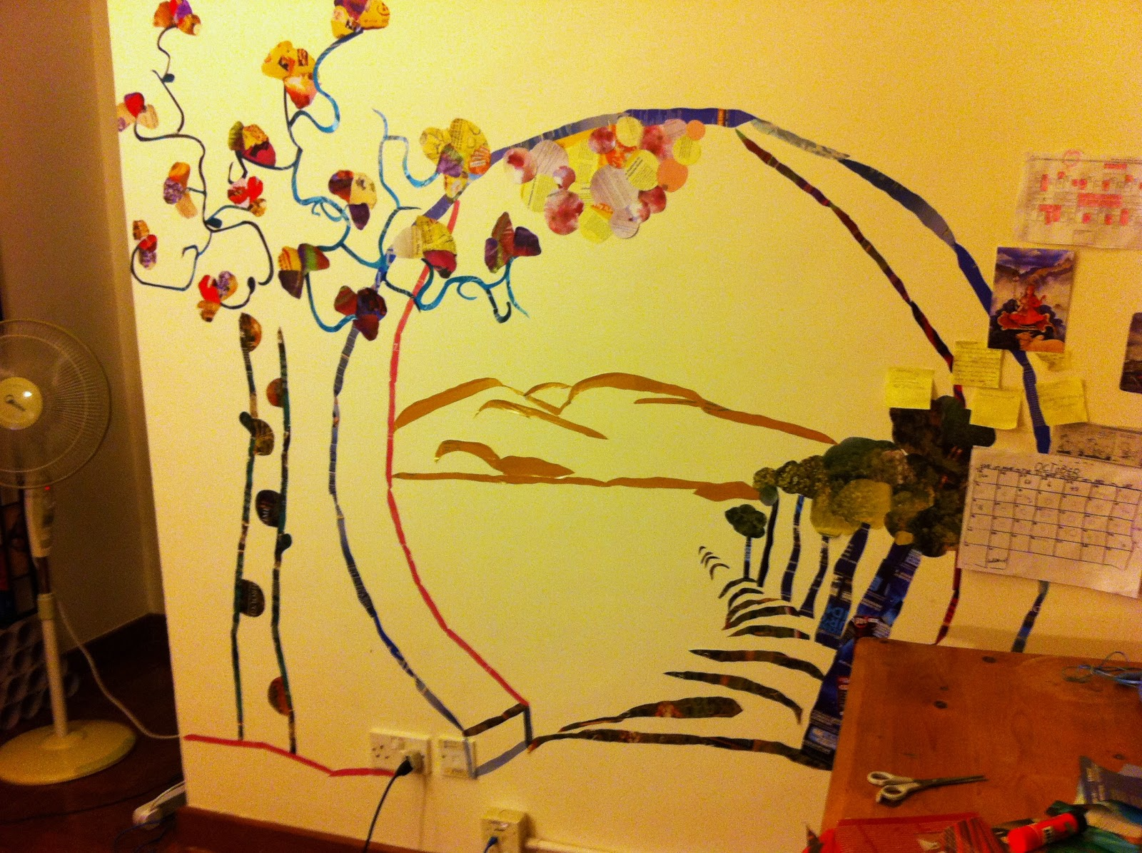 IDEA Lee: How to Decorate with Recycled Materials Part 1: Murals