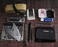 Leatherman Wave, Gerber folder, Inova X1, Zebra SL-F1, Pilot Birdy