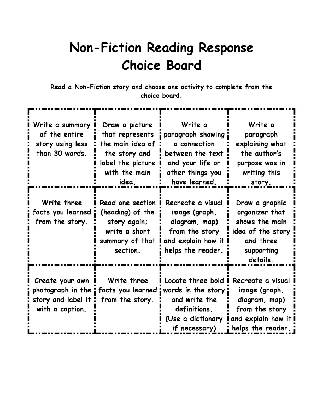 choose the right choice reading response This document contains tips on how to do well on multiple-choice tests contents stay away from others right before the test reading, or laboratory.