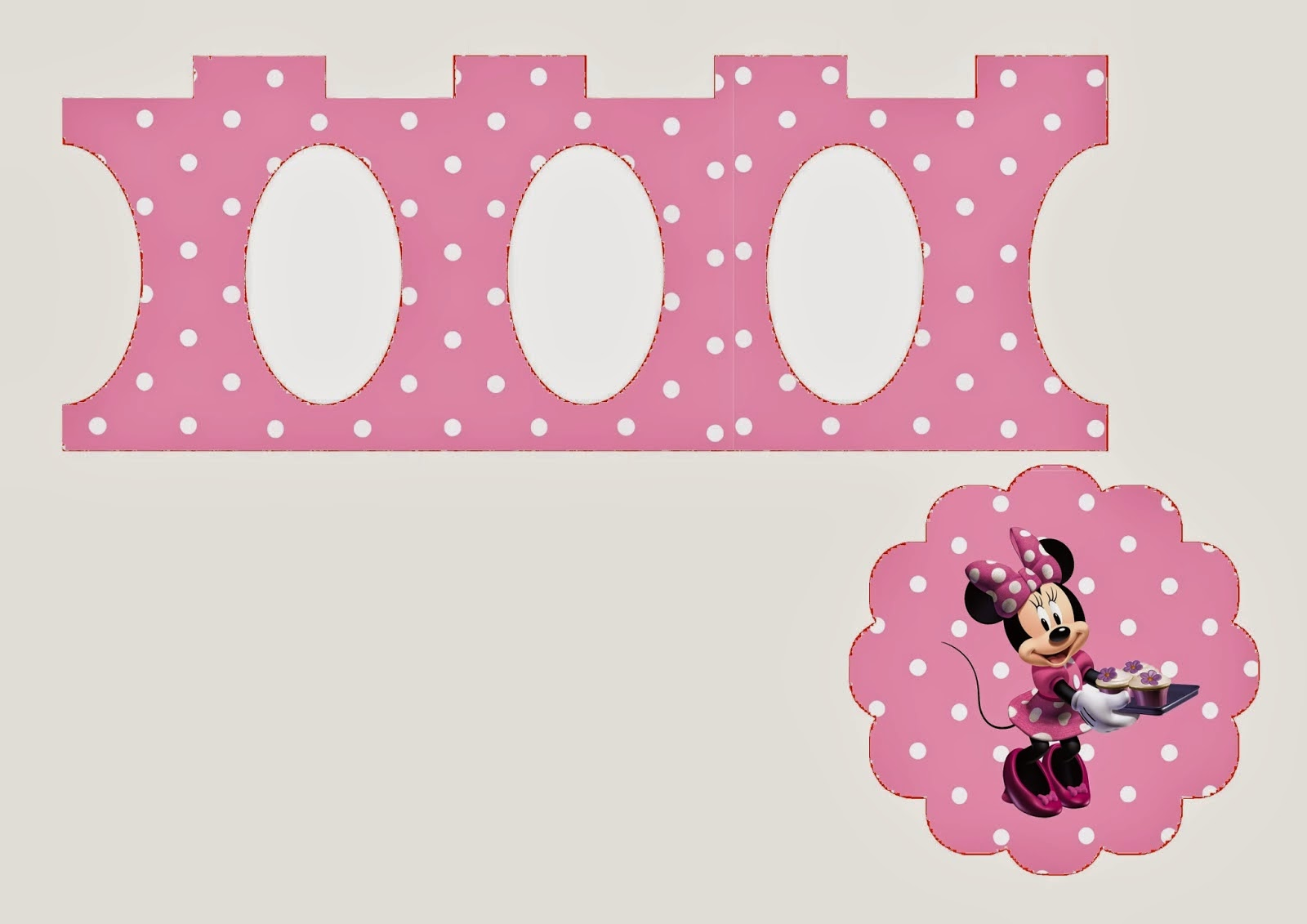 Minnie in Pink: Free Printable Mini Cupcake Stands. | Is it for ...