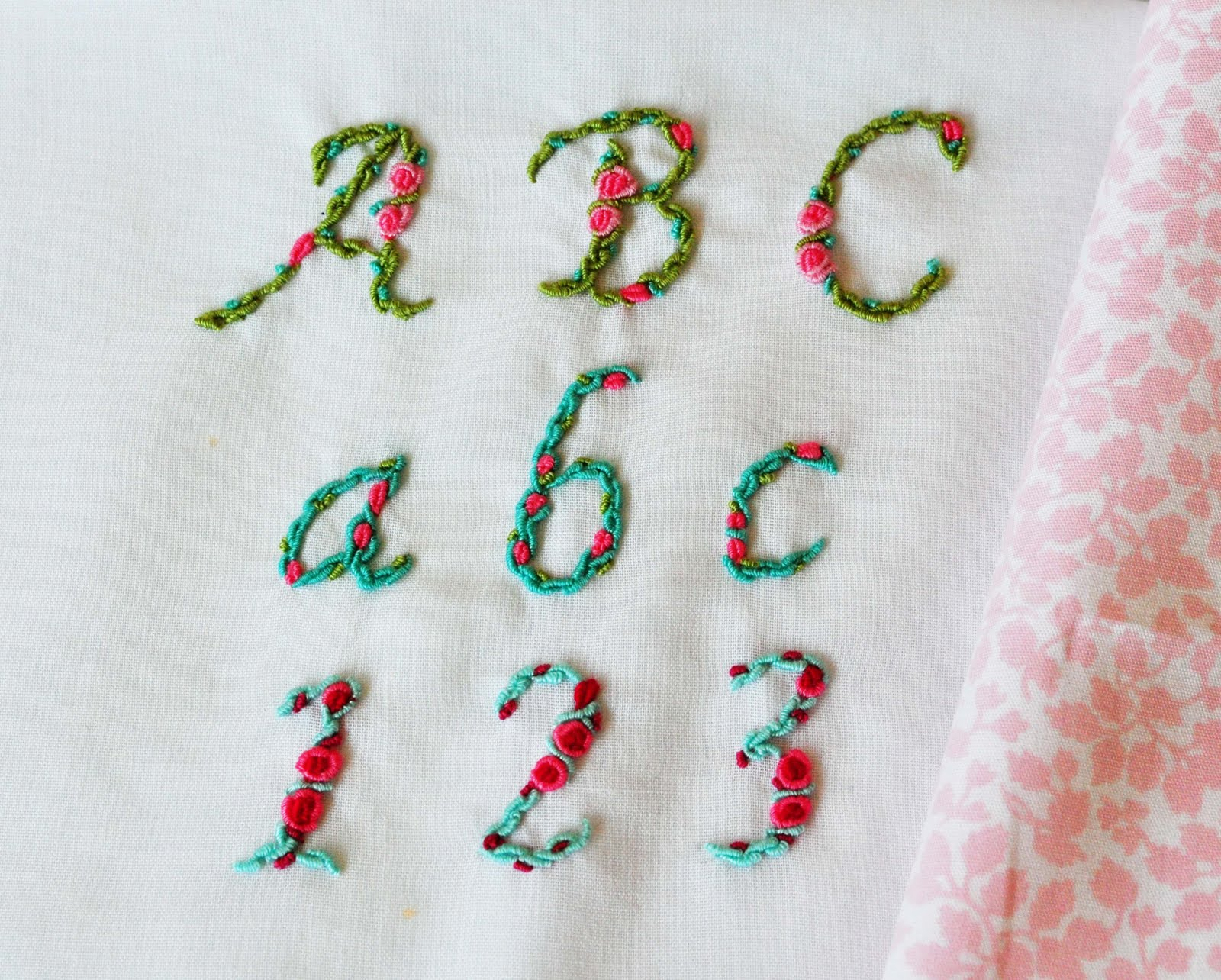 The Handmade Dress Hand Embroidered Alphabet