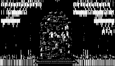 pixel art, macpaint, old school, B/W, computer art, TOMBSTONE