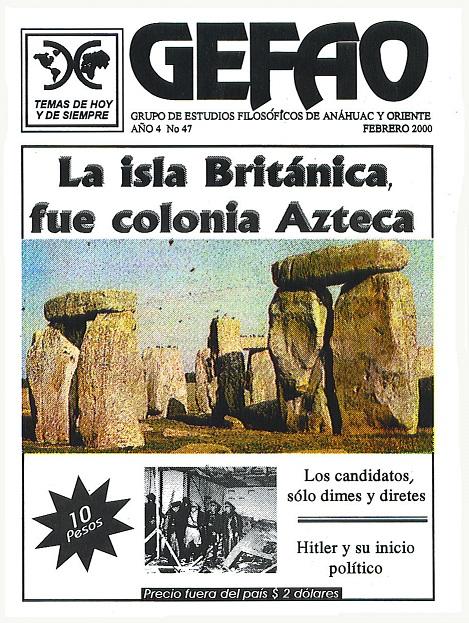 REVISTA GEFAO NO. 47 LA ISLA BRITANICA FUE COLONIA AZTECA