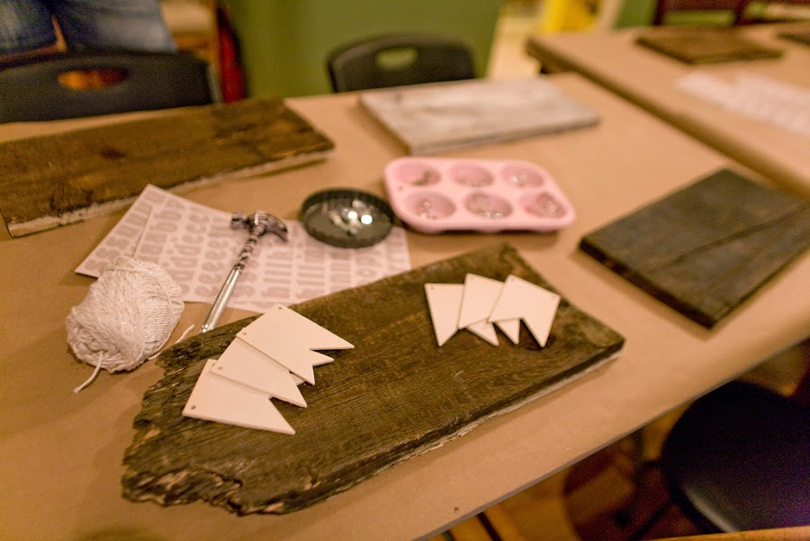 materials for making a rustic wooden banner sign