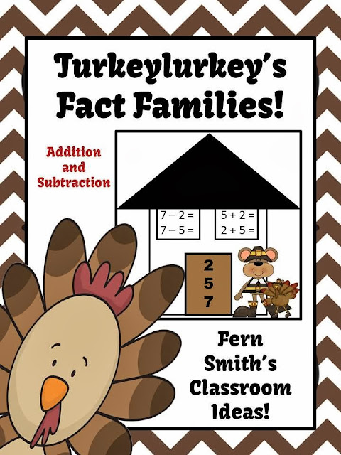 math worksheet : thanksgiving addition and subtraction fact families center and  : Thanksgiving Addition And Subtraction Worksheets
