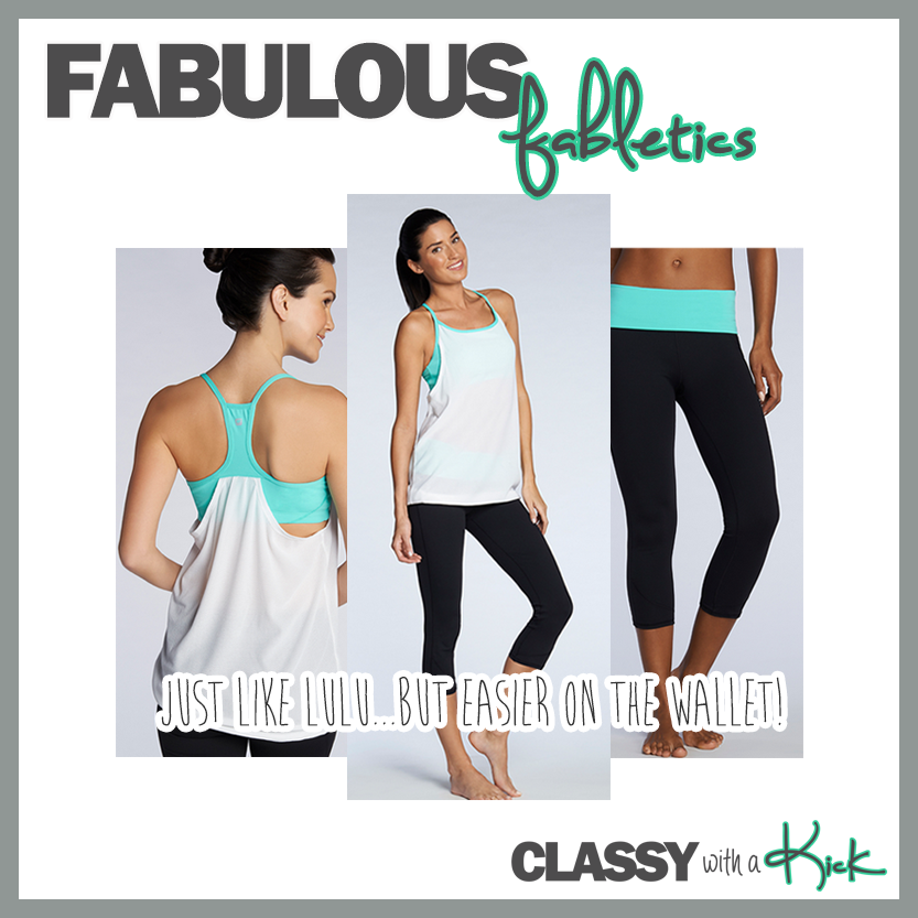 Classy with a Kick: Help for Lululemon Addicts - Fabletics Norwalk Tank and Lima Capri