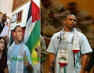 Ronaldo Luis Nazario berkunjung ke Palestina