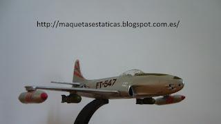 modelo en miniatura 1:100 Italeri Lockheed P-80/F-80 Shooting Star