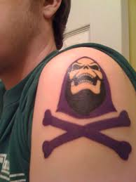 Skeletor Esqueto Moto Tattoo