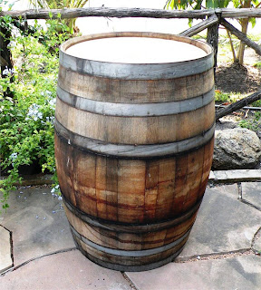 Outdoor Wooden Wine Barrel